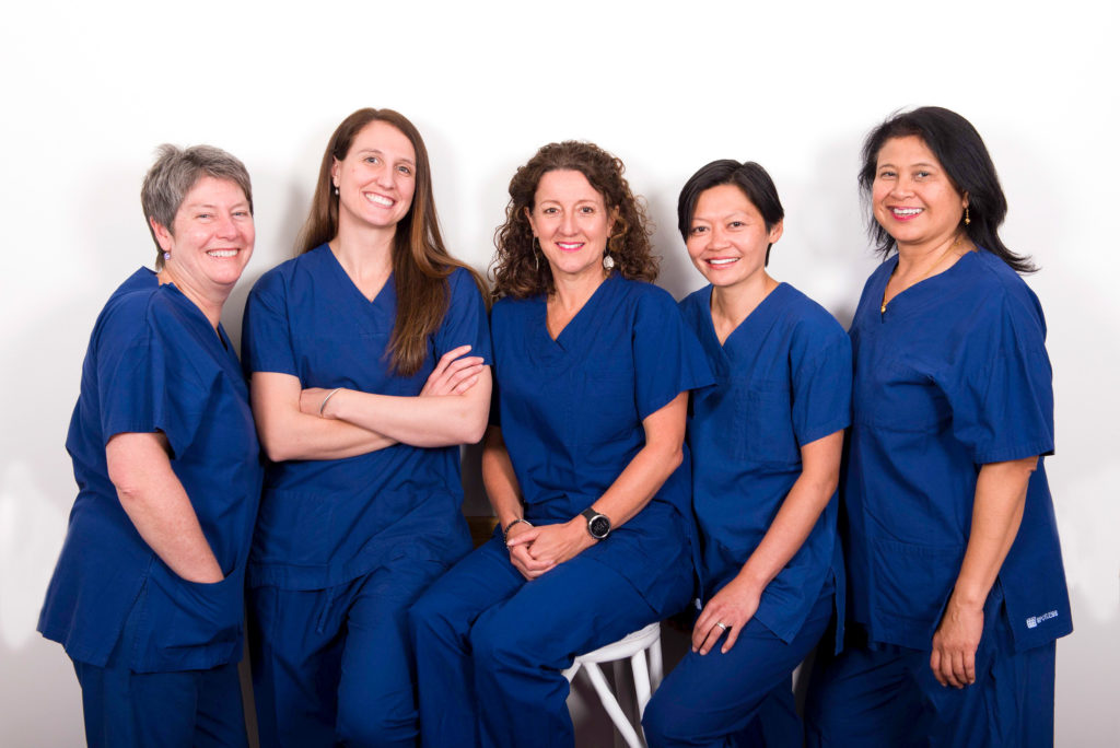 Women's Obstetrics & Gynaecology Specialists in scrubs