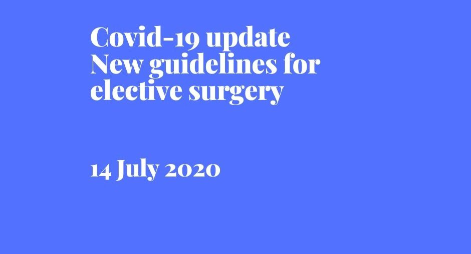 Covid-19 update on elective surgery