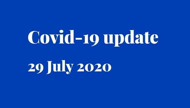 Covid-19 update - partners /support person